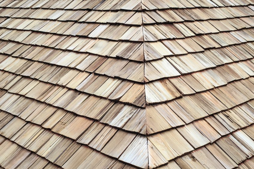 Wooden Roof shingle texture and background